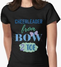 Cheerleader From Bow 2 Toe Women's Fitted T-Shirt