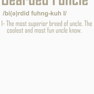 Gifts for Mens Beards Bearded Funcle Funny Beareded Uncle Gifts by doggopupper