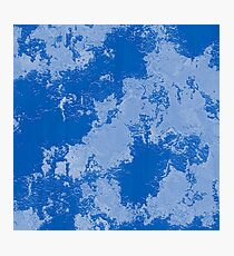 Blue Chipped Paint Photographic Print
