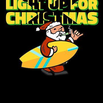 Light Up for Christmas Cannabis Santa by hadicazvysavaca