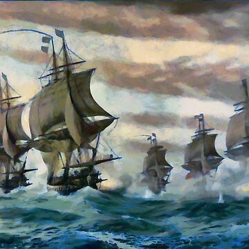 The Battle of the Chesapeake, also known as the Battle of the Virginia Capes, Atlantic Ocean 1781 by ZipaC
