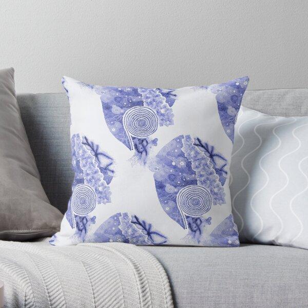 Carrickalinga Sands Blue Ink Throw Pillow