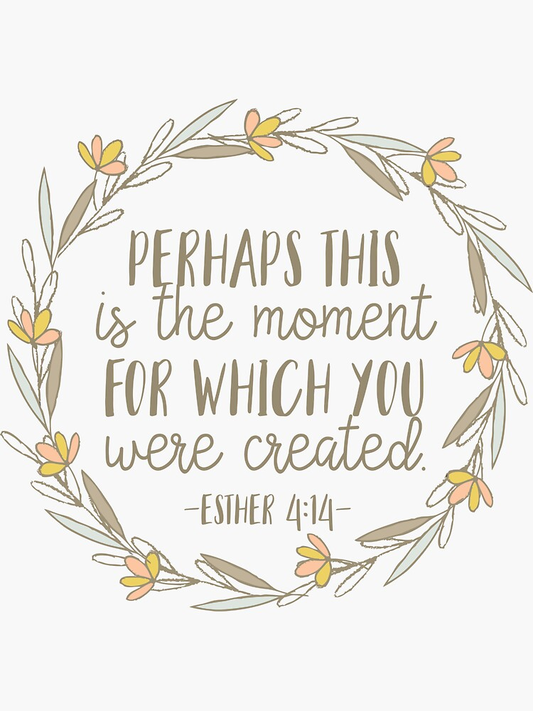 Bible Verse - Esther 4:14 by walk-by-faith