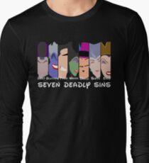 The Seven Deadly Villains  Long Sleeve T-Shirt