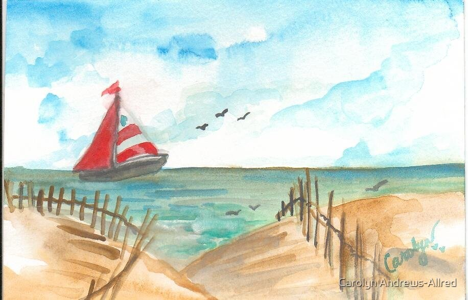 Sailboat Dreamin' At The Outerbanks by Carolyn Andrews-Allred