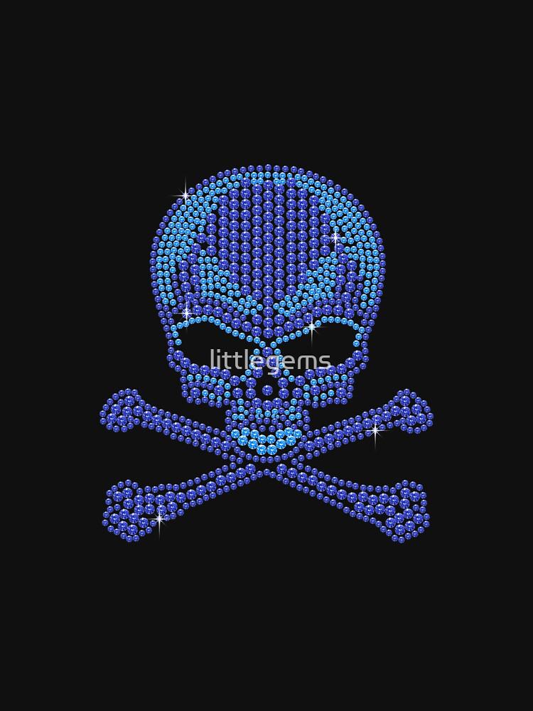 Blue Rhinetsone Skull & Crossbones by littlegems