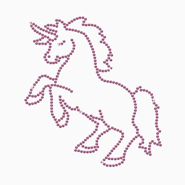 Pink Rhinestone Unicorn by littlegems