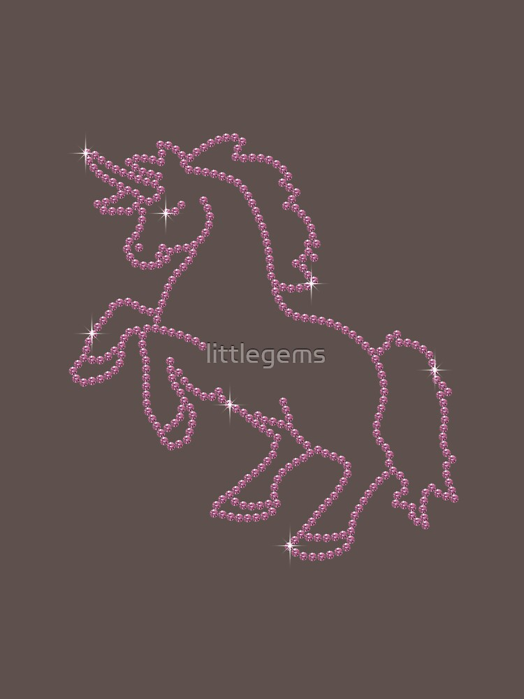 Pink Rhinestone Unicorn by littlegems