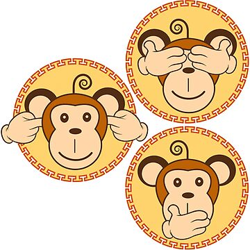 The three wise monkeys by TeeShow