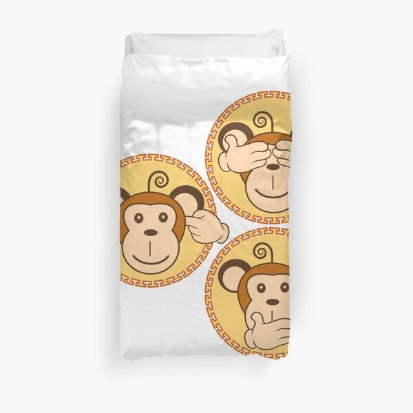 The three wise monkeys Duvet Cover