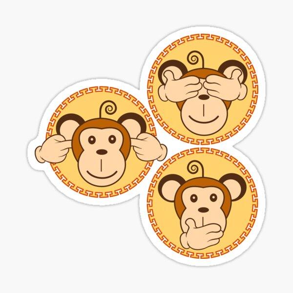 The three wise monkeys Sticker