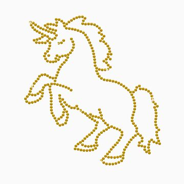 Topaz Rhinestone Unicorn by littlegems