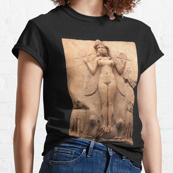 BABYLON. Queen of the Night, Goddess Ishtar, Babylonian Goddess of sex and love. Burney relief. Classic T-Shirt