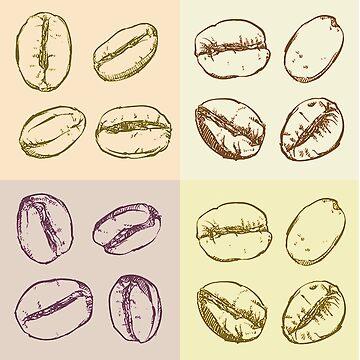 Coffee Beans patern by DedEye