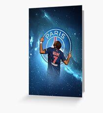 Kylian Mbappe PSG 'Universe' Artwork Design Greeting Card