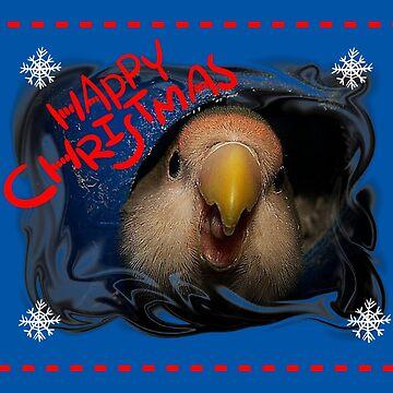 Happy Christmas Love Bird by Jonice