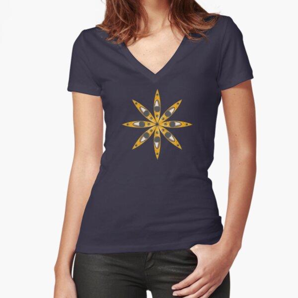 Kayak Flower Fitted V-Neck T-Shirt
