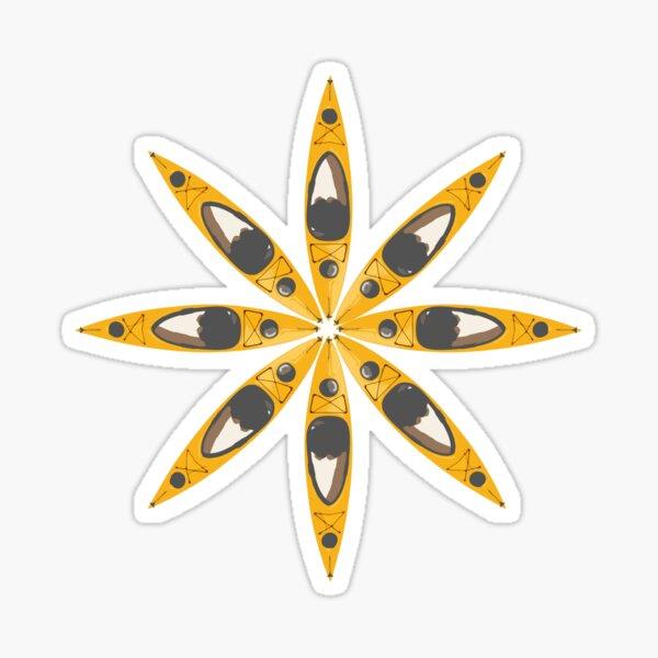 Kayak Flower Sticker