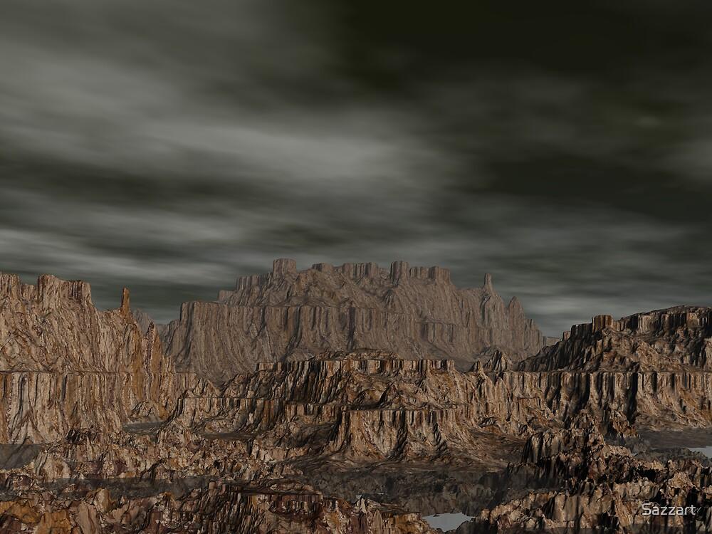 Erahcul Canyon's Hidden Pools by Sazzart