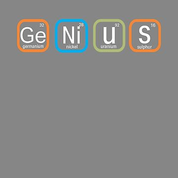Top Fun Genius Periodic Table Gift Design by LGamble12345