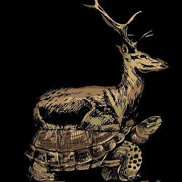 Turtle deer by GeschenkIdee
