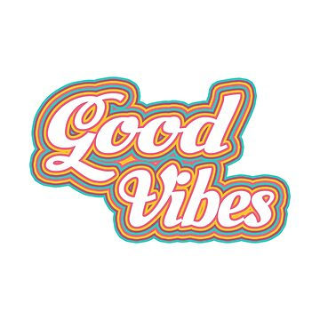 Good Vibes - Rainbow Coloured Text by ImageMonkey