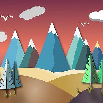 Mountain Landscape 2D by RoxanneG