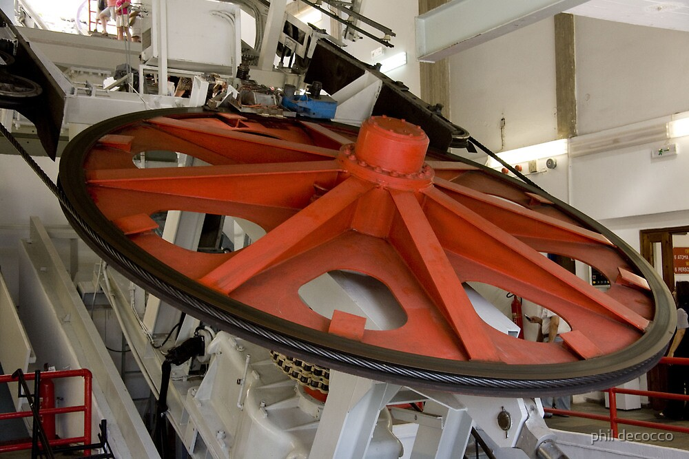 Cable Car Wheel by phil decocco