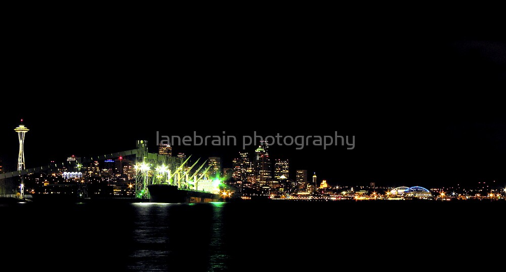 Seattle Night Shots #1 ~ Seattle, Washington ~ by lanebrain photography