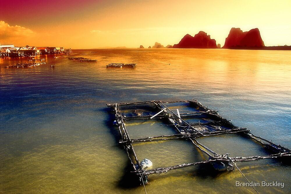 Thai Fishing Village by Brendan Buckley