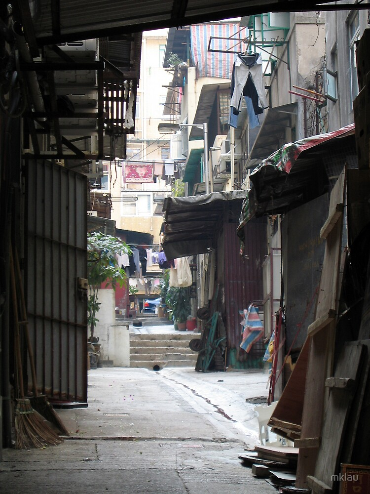 Hong Kong back alleyway Mid Levels by mklau