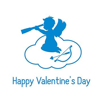 Cupid looks into a telescope, cloud, bow, arrow. by aquamarine-p