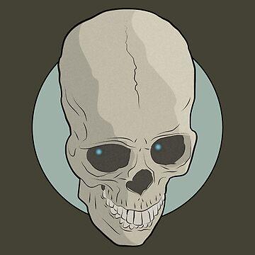 Evil's Skull Green by EvilGravy