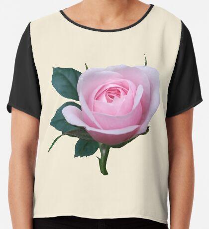 Königin der Blumen - eine zauberhafte pinke Rose, Rosen Chiffontop