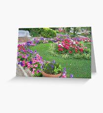 garden in capri Greeting Card