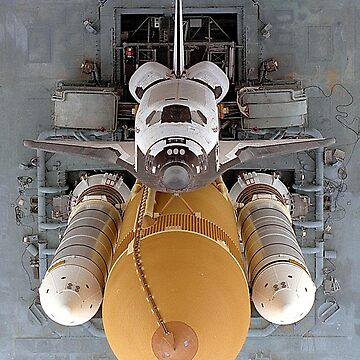 Space Shuttle Atlantis, begins the slow journey to Launch Pad. by TOMSREDBUBBLE