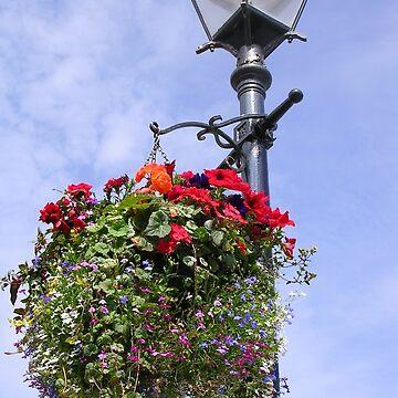 Street Lamp Florals by lezvee