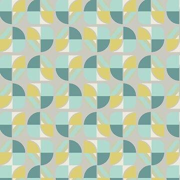 Vintage-Retro Pattern-Grey-Blues by broadmeadow