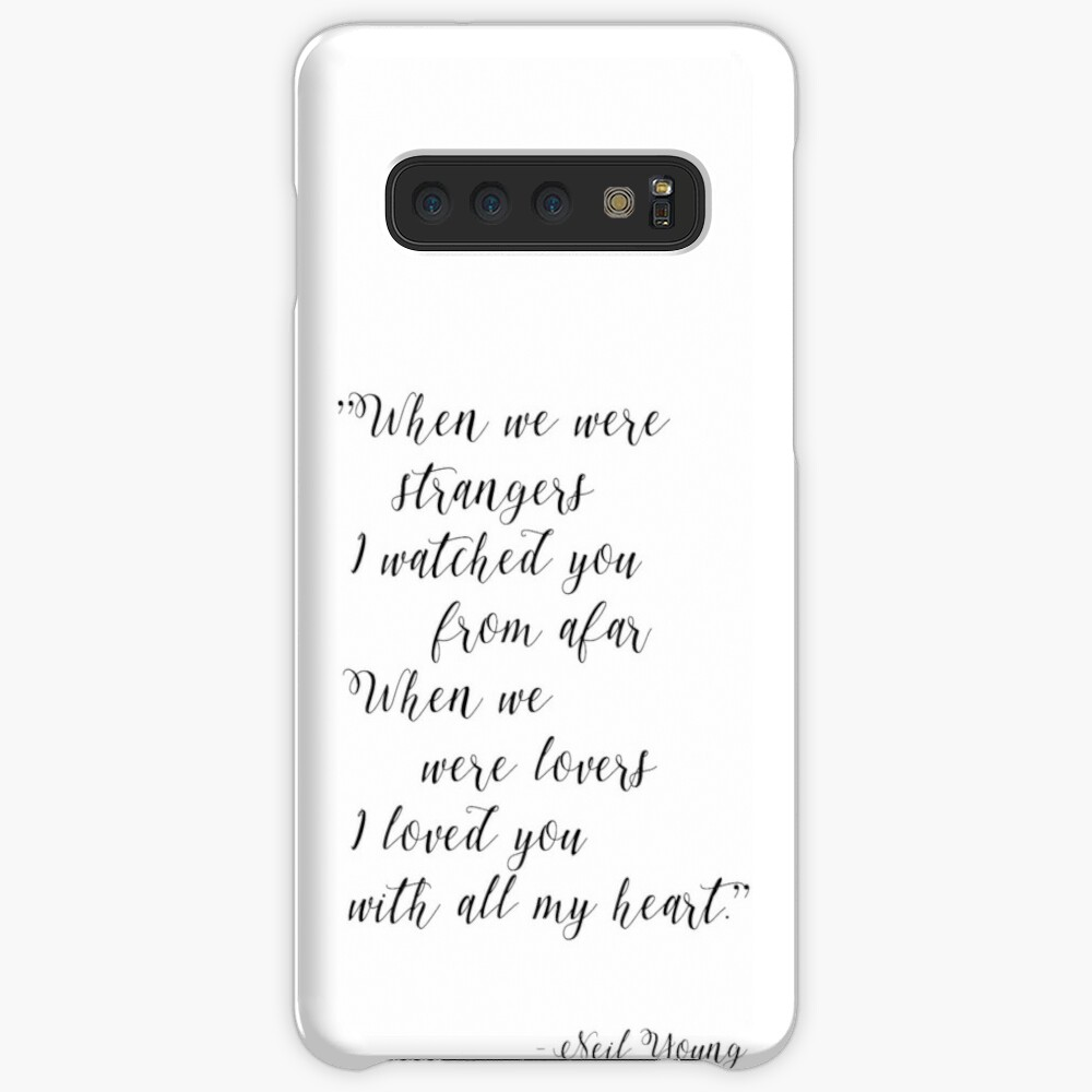 Neil Young Harvest Moon Lyric Print Case & Skin for Samsung Galaxy