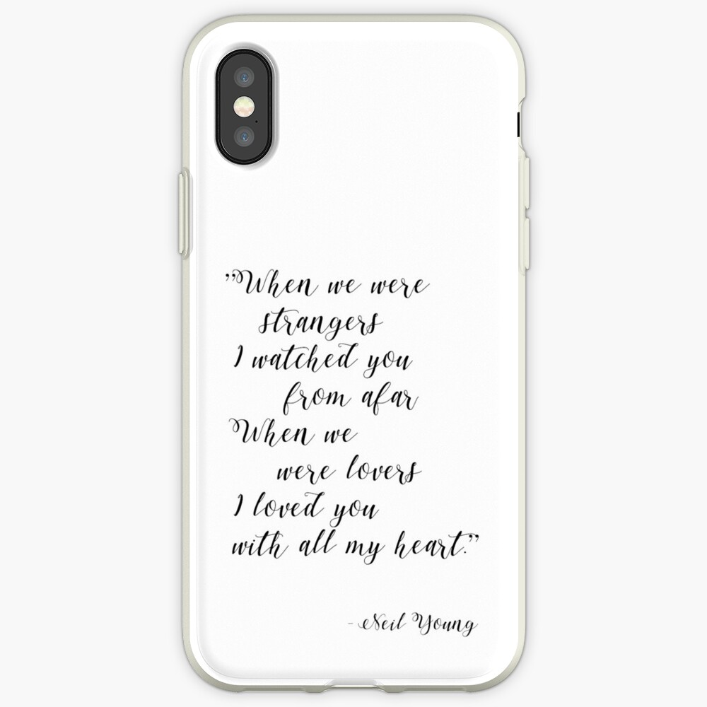 Neil Young Harvest Moon Lyric Print iPhone Case & Cover