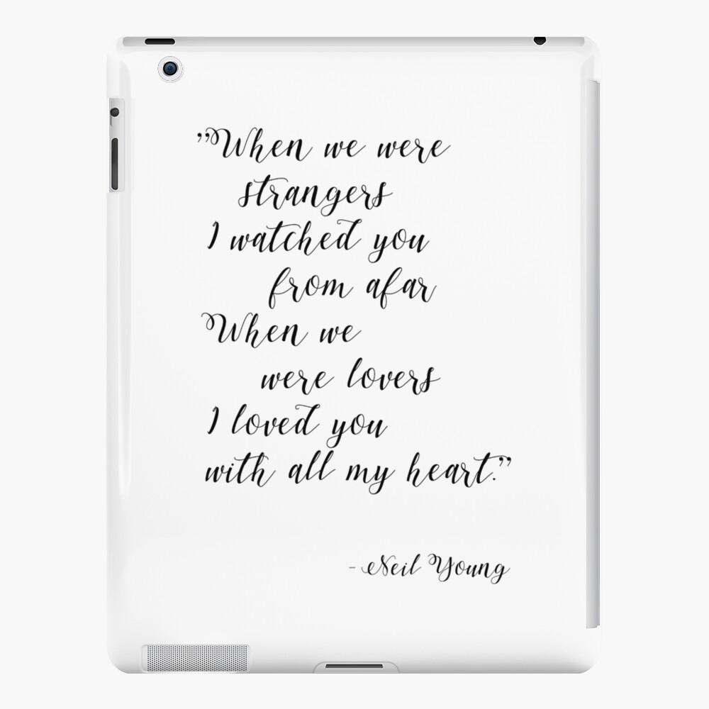 Neil Young Harvest Moon Lyric Print iPad Case & Skin