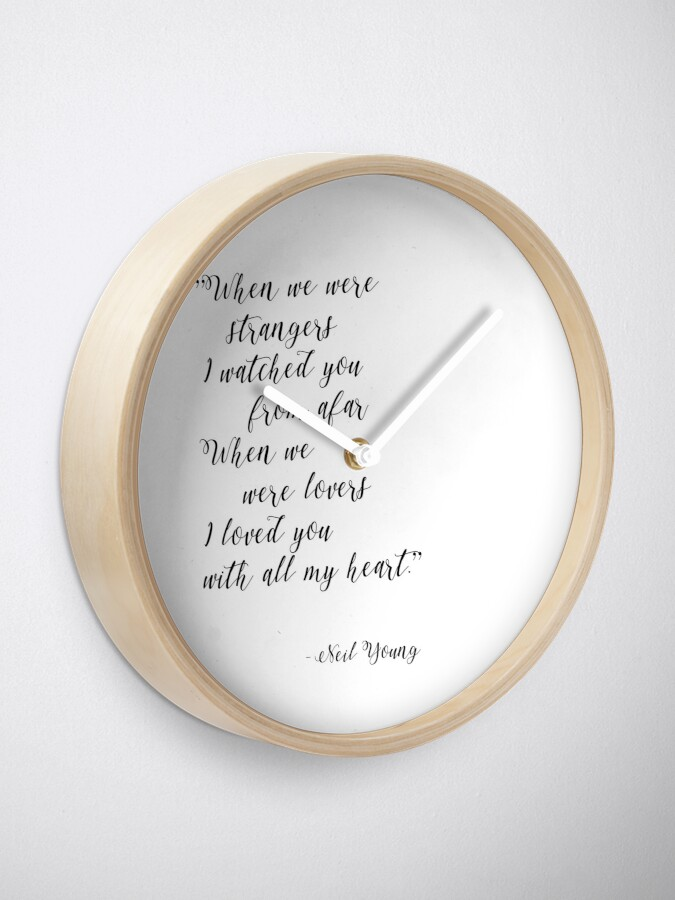 Alternate view of Neil Young Harvest Moon Lyric Print Clock
