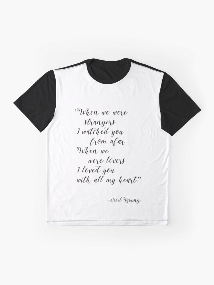 Alternate view of Neil Young Harvest Moon Lyric Print Graphic T-Shirt