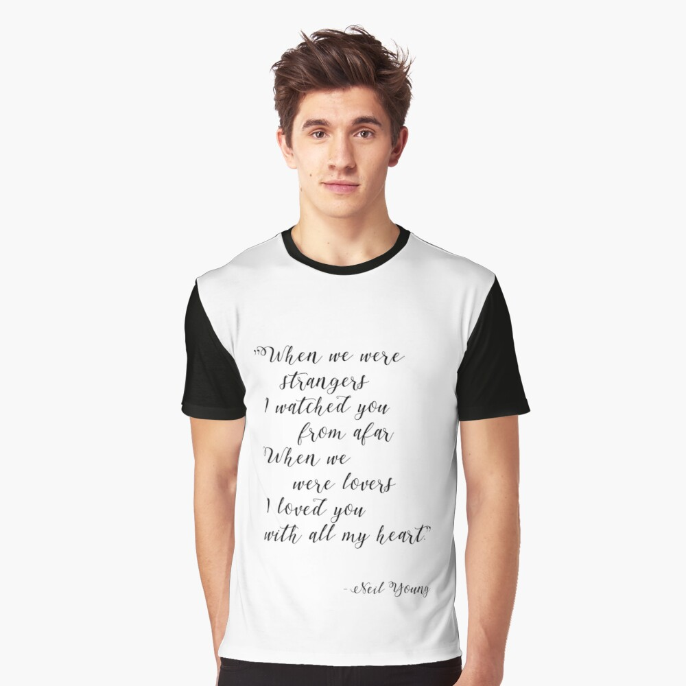 Neil Young Harvest Moon Lyric Print Graphic T-Shirt