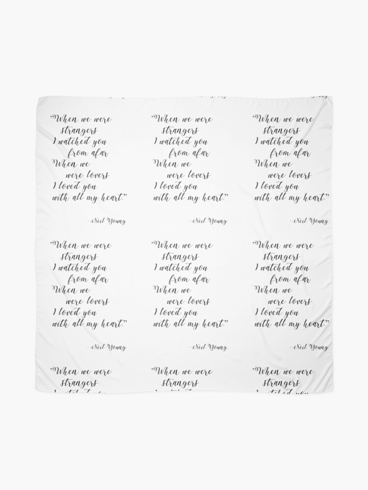 Alternate view of Neil Young Harvest Moon Lyric Print Scarf