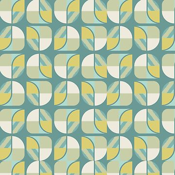 Vintage-Retro Pattern-Colourful Shapes by broadmeadow