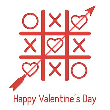 Greeting card with tic tac toe game with hearts. by aquamarine-p