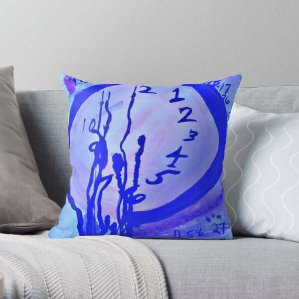 Time Travel - Ink Print Throw Pillow