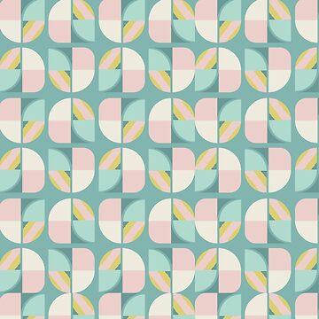 Vintage-Retro Pattern-Blue-Pink Pastel by broadmeadow
