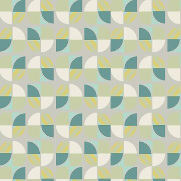 Vintage-Retro Pattern-Pastel Green-Turquoise-Blue by broadmeadow
